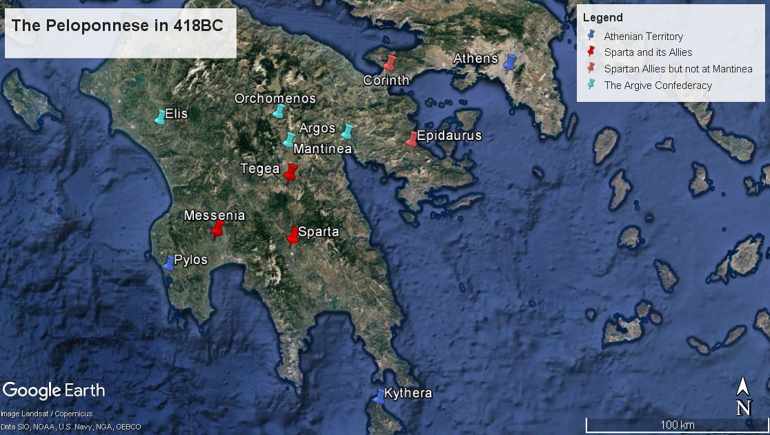 Athens Archives Battles Of The Ancients - Map of the distance between athens sparta and the us