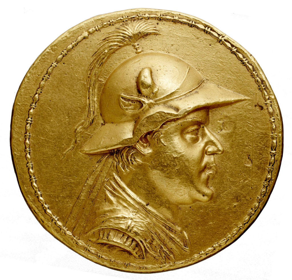 Gold 20-stater coin of Eucratides